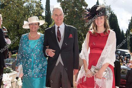 Prince Gundakar of Liechtenstein, Princess Marie of Liechtenstein and Maria-Immaculata of Liechtenstein