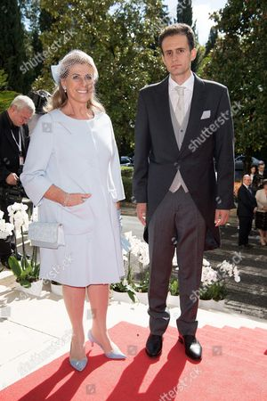 Princess Lea of Belgium with her son Robert Bichara
