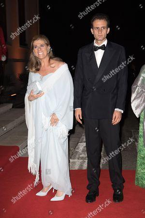 Princess Lea of Belgium and her son Robert Bichara