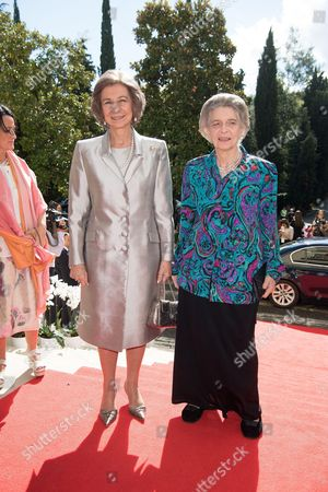 Former Queen Sofia of Spain and Princess Irene