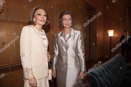 Empress Farah Diba and Former Queen Sofia