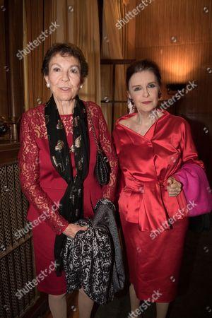 Princess Maria Pia de Savoie and Princess Nesrine Toussoun of Egypt