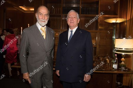 Prince Michael of Kent and Crown Prince Alexander of Serbia