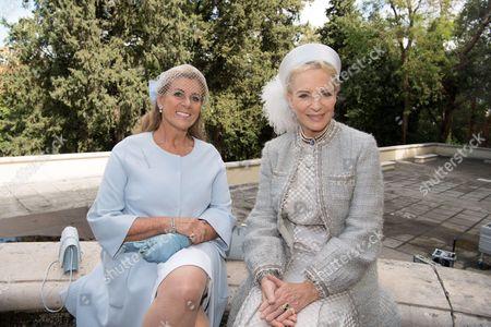 Princess Michael of Kent and Princess Lea of Belgium