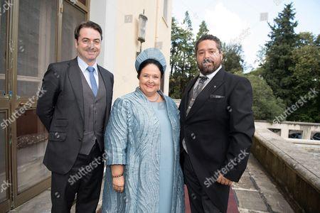 Prince Joachim Murat, Grand Duchess Maria of Russia and Grand Duke George of Russia