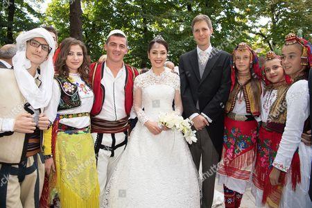 Editorial image of Wedding of Crown Prince Leka II and Princess Elia, Palace of Brigades, Tirana, Albania - 08 Oct 2016