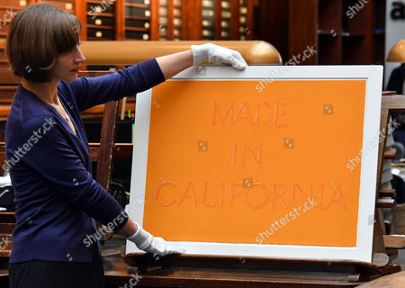 Ed Ruscha.  Made in California. 1971. Catherine Daunt, Project Curator Monument Trust.