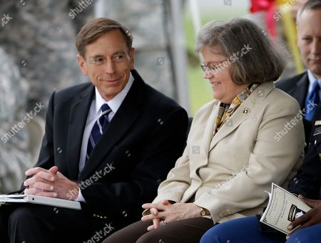 David Petraeus, Holly Petraeus This photo shows CIA Director David Petraeus and his wife, Holly, during a ceremony at Fort Campbell, Ky