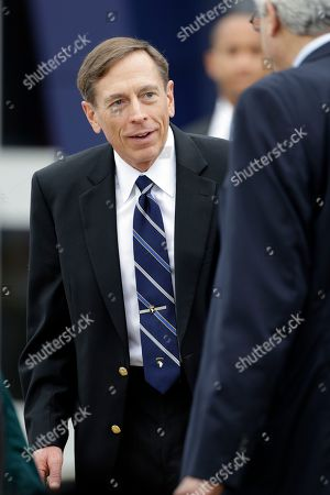 Stock Picture of David Petraeus, Holly Petraeus This photo shows CIA Director David Petraeus during a ceremony at Fort Campbell, Ky