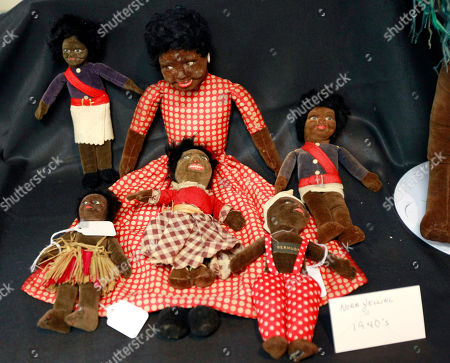 Historic black cloth dolls are seen on display in New Orleans, . Amid rare antique dolls crafted in porcelain, whimsical Kewpies and homage to contemporary icon Barbie, cloth dolls in the image of African-Americans drew special attention as more than 1,200 collectors gathered in New Orleans for the annual convention of the United Federation of Doll Clubs