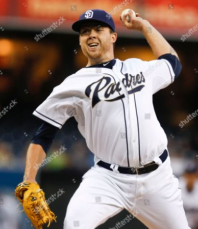 Andrew Werner San Diego Padres starter Andrew Werner wrks against the Atlanta Braves during the first inning of a baseball game in San Diego