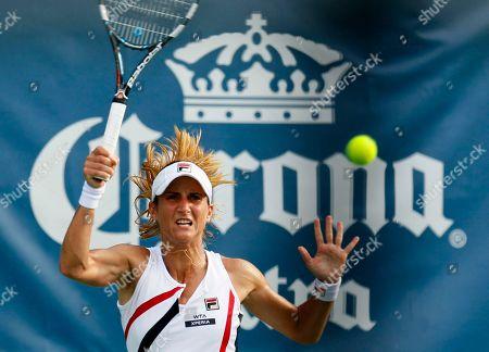 Edina Gallovits-Hall Edina Gallovits-Hall, of Romania, returns a shot against Sandra Zahlavova, of the Czech Republic, during a match at the City Open tennis tournament, in Washington. Gallovits-Hall won 7-5, 4-6, 6-3