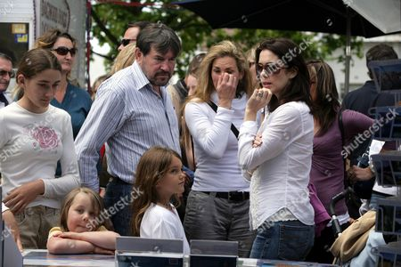Princess Mary and Prince Christian at Hobarts Salamanca Saturday Market. Mary was Accompanied by her sister Patricia, her Children and her father John Donaldson