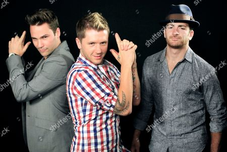 "Nick Lazzarini, Travis Wall and Teddy Forance Wednesday Sept. 5,2012 showing from left Nick Lazzarini, Travis Wall and Teddy Forance pose for a photo in Los Angeles. The three are nominated for 2012 Creative Arts Emmy Awards for their choreography on ""Dancing with the Stars."" The ceremony is set for Saturday, Sept. 15 in Los Angeles"