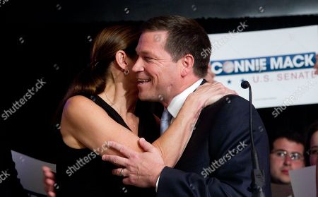 Connie Mack, Madison, Mary Rep. Connie Mack, R-Fla., hugs his wife, Rep. Mary Bono Mack, R-Calif., after winning the Republican nomination for Senate, . He now faces Democratic incumbent Sen. Bill Nelson, who was victorious in his primary race