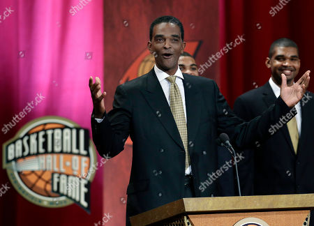 Ralph Sampson Inductee Ralph Sampson reacts as he speaks during the enshrinement ceremony for the 2012 class of the Naismith Memorial Basketball Hall of Fame at Symphony Hall in Springfield, Mass