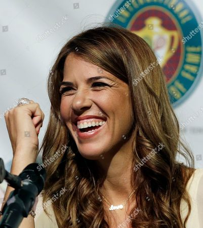 Jennifer Capriati International Tennis Hall of Fame inductee Jennifer Capriati of Tampa, Fla. laughs during a news conference prior to induction ceremonies in Newport, R.I