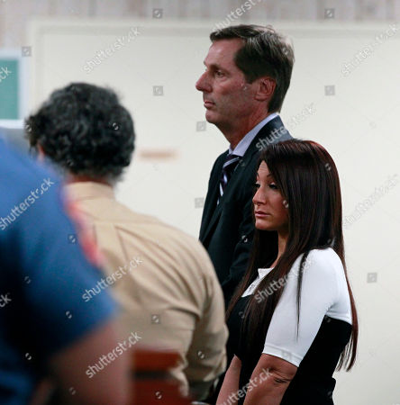 """Stock Image of Michael Pappa, Joann Cortese Jersey Shore"""" cast member Deena Cortese, right, stands with her attprney Michael Pappa, center back, during a hearing Tuesday, July, 3, 2012, in Seaside Heights, N.J. The """"Jersey Shore"""" cast member was in Seaside Heights municipal court on a change of interfering with traffic for an incident in which police say she was dancing in a street and blocking the flow of traffic"""