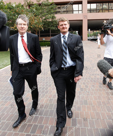 Stock Image of Floyd Landis, Leo Cunningham Floyd Landis, right, and his attorney, Leo Cunningham, leave federal court in San Diego, . Landis pleaded not guilty to wire fraud but made a deal with prosecutors who agreed to defer prosecution on condition he makes restitution to people from whom he raised money to fund his fight against doping charges