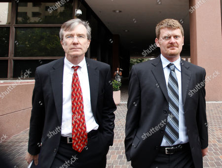Floyd Landis, Leo Cunningham Former cyclist Floyd Landis, right, and his attorney Leo Cunningham leave federal court, in San Diego. Landis agreed Friday to a deal with prosecutors who agreed to defer prosecution on wire fraud charges on condition he makes restitution to people from whom he raised money to fund his fight against doping charges