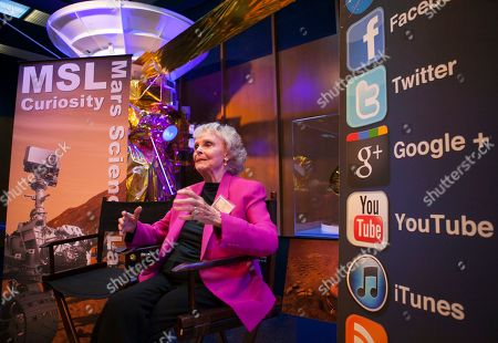 June Lockhart Actress June Lockhart from Lost in Space and Lassie, addresses bloggers at NASA Social media event at the Jet Propulsion Laboratory in Pasadena, California,, hours before the Mars rover Curiosity is due to land on the surface of Mars. The most high-tech rover NASA has ever designed was speeding toward Mars on Sunday to attempt an acrobatic landing on the planet's surface. The Curiosity rover was poised to hit the top of the Martian atmosphere at 13,000 mph. If all goes according to script, it will be slowly lowered into a massive crater by cables in the final few seconds