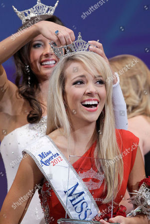 Stock Image of Sloane Roberts, Kristen Glover Sloane Roberts, right, is crowned Miss Arkansas by Kristen Glover at the Miss Arkansas Pageant in Hot Springs, Ark