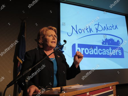Democratic U.S. Senate candidate Heidi Heitkamp speaks at the Radisson Hotel in Bismarck, N.D., during a debate with Republican Senate rival Rick Berg. Heitkamp and Berg are running for the Senate seat being left open by the departure of incumbent Democrat Kent Conrad, and Berg is considered crucial to GOP hopes of capturing control of the U.S. Senate