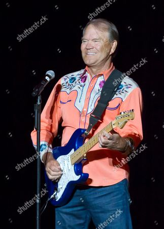Stock Photo of Glen Campbell Singer Glen Campbell performs during his Goodbye Tour in Little Rock, Ark. Campbell finished off his Goodbye Tour on Friday night, Nov. 30, 2012, in Napa, Calif., but is considering scheduling more dates in 2013. The singer has Alzheimer's disease