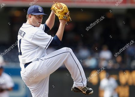 Andrew Werner San Diego Padres starting pitcher Andrew Werner makes his major league debut pitching against the Pittsburgh Pirates in a baseball game in San Diego