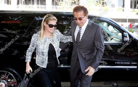 """Steve Wynn Casino mogul Steve Wynn arrives at court with his wife, Andrea, for his slander trial in Los Angeles. Wynn is contesting accusations made by """"Girls Gone Wild"""" creator, Joe Francis"""