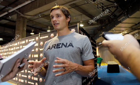 Eric Shanteau Eric Shanteau talks to reporters during a news conference at the U.S. Olympic swimming trials, in Omaha, Neb. The trials are to start on Monday