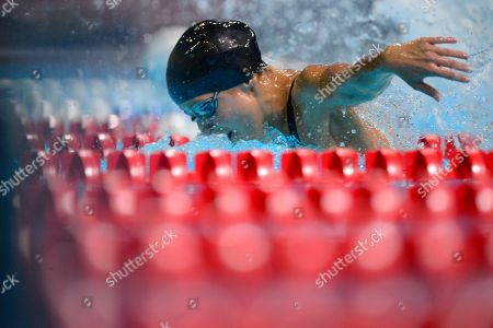 Stock Photo of Kim Vandenberg Kim Vandenberg swims in the women's 200-meter butterfly preliminaries at the U.S. Olympic swimming trials, in Omaha, Neb