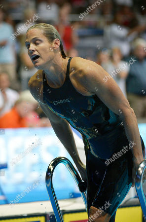 Dara Torres Dara Torres leaves the pool after swimming in the women's 50-meter freestyle final at the U.S. Olympic swimming trials, in Omaha, Neb. Jessica Hardy won the final