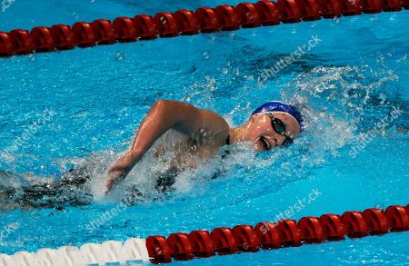 Kathleen Ledecky Kathleen Ledecky swims in the women's 800-meter freestyle preliminaries at the U.S. Olympic swimming trials, in Omaha, Neb