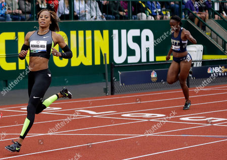 Sanya Richards-Ross Sanya Richards-Ross finishes first in her heat in the women's 200 meters at the U.S. Olympic Track and Field Trials, in Eugene, Ore