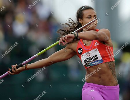 Chantae McMillan Heptathlete Chantae McMillan competes in the javelin throw at the U.S. Olympic Track and Field Trials, in Eugene, Ore
