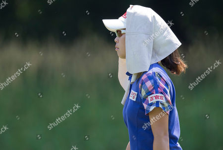 Sun Young Yoo walks along the ninth fairway during the second round of the U.S. Women's Open golf tournament, in Kohler, Wis