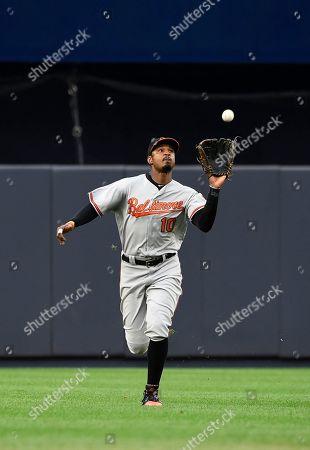 Adam Jones Baltimore Orioles center fielder Adam Jones catches a fly ball hit by New York Yankees Mark Teixeira in the sixth inning of a baseball game, in New York