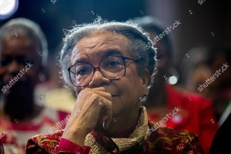 Marian Wright Edelman Children's Defense Fund President and founder Marian Wright Edelman listens as Democratic presidential candidate Hillary Clinton speaks at the Black Women's Agenda's 29th Annual Symposium at the Renaissance Washington, D.C. Downtown Hotel, in Washington
