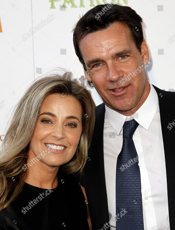 """David James Elliott, Nanci Chambers David James Elliott, right, and Nanci Chambers arrive at A Better LA's """"In the Art of the City"""" event in Los Angeles, . A Better LA is a non-profit organization benefitting communities in Los Angeles"""