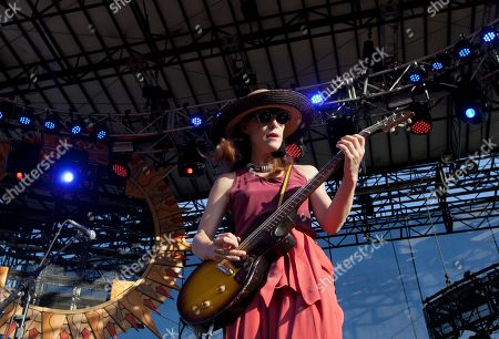 Leslie Feist performs during the Bonnaroo Music and Arts Festival in Manchester, Tenn