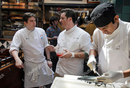 Seamus Mullen, Ken Orsi Chef Seamus Mullen, center, owner of Spanish restaurant Tertulia, talks with sous chef Ken Orsi, left, as trout is prepared for the dinner menu, in New York's Greenwich Village