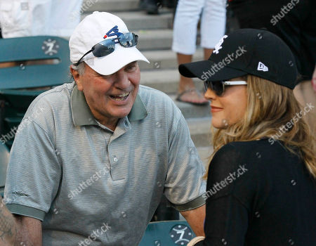 Richard M. Daley, Lisa Marie Presley Former Chicago Mayor Richard M. Daley, left, talks with entertainer Lisa Marie Presley before she threw out a ceremonial first pitch before an interleague baseball game between the Chicago White Sox and the Chicago Cubs, in Chicago