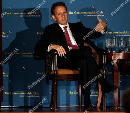 Tim Geithner Treasury Secretary Tim Geithner speaks at the Commonwealth Club in San Francisco