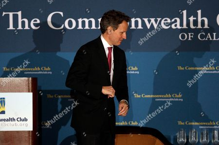 Tim Geithner Treasury Secretary Tim Geithner attends a gathering of the Commonwealth Club in San Francisco