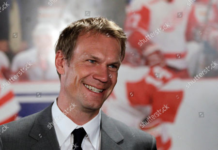Nicklas Lidstrom Detroit Red Wings captain Nicklas Lidstrom, of Sweden, is interviewed after announcing his retirement in Detroit. Olympic gold medalists Steve Yzerman and Lidstrom, both Stanley Cup-winning captains for the Detroit Red Wings, will enter the International Ice Hockey Federation Hall of Fame