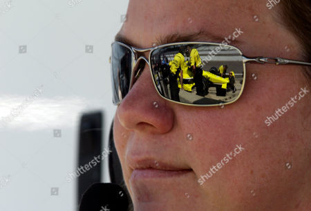 Sarah Fisher IndyCar owner Sarah Fisher watches her team work on driver Josef Newgarden's car during practice for the Indianapolis 500 auto race at the Indianapolis Motor Speedway in Indianapolis