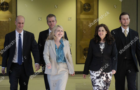 Amy Thompson Amy Thompson, second from right, defense attorney for William Balfour, and her team return from hearing a question from the jury during deliberations at Cook County Criminal Court, in Chicago. Balfour, is charged in the 2008 murder of Oscar and Grammy winning performer Jennifer Hudson's mother, brother and nephew