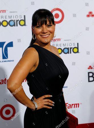 Diana Reyes Diana Reyes walks the red carpet at the Latin Billboard Awards in Coral Gables, Fla