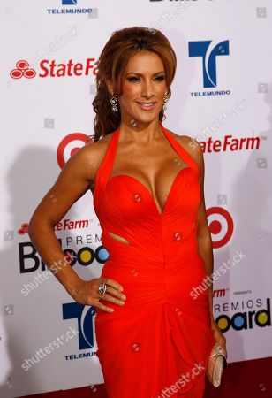 Azucena Cierco Azucena Cierco poses at the Latin Billboard Awards in Coral Gables, Fla